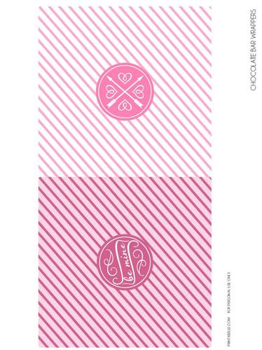 Full Size Chocolate Bar Valentine's Printable Labels pre-designed label template for OL685
