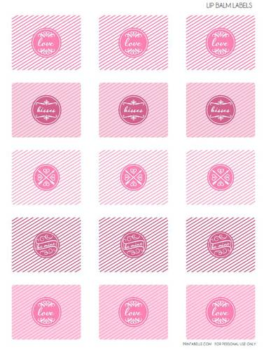 Valentine's Lip Balm Tube Printable Label Design pre-designed label template for OL421