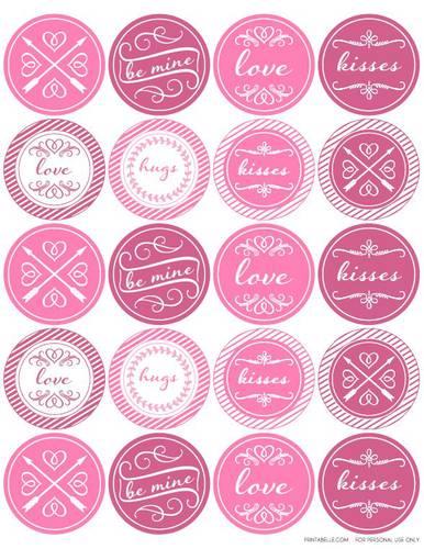 "OL5375 - 2"" Circle - Round Valentine"
