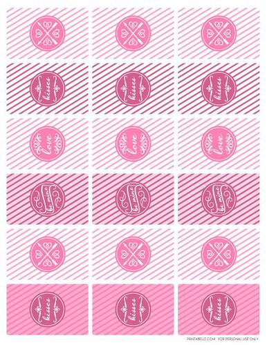 Valentines Day Themed Mini Chocolate Bar Printable Wrapper Label