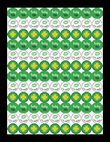 "OL5275 - 0.75"" Circle - Chocolate Kiss Printables for St. Patrick"