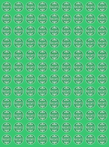 "OL5275 - 0.75"" Circle - St. Patrick's Day Round Printable Irish Kisses Labels"
