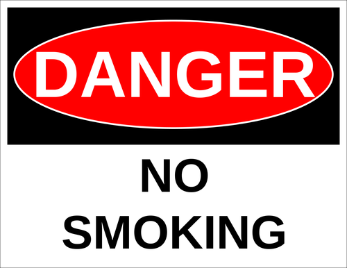 "OL175 - 8.5"" x 11"" - Danger - No Smoking Label"