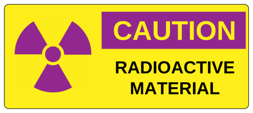 "OL5925 - 7"" x 3"" - Caution - Radioactive Material"