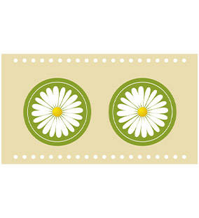 "OL421 - 2.125"" x 1.6875"" - Flower Lip Balm Labels"