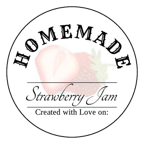 "OL350 - 2.5"" Circle - Homemade Strawberry Jam Printable"