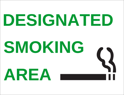 "OL175 - 8.5"" x 11"" - Designated Smoking Area Label"