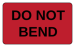 Do Not Bend Label