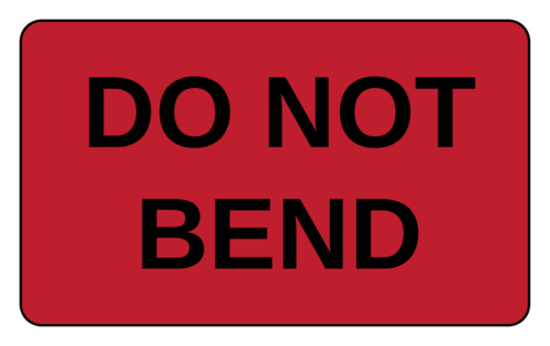 Custom Card Template online lables : Do Not Bend Label - Label Templates - OL1125 ...