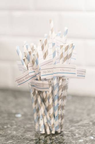 "OL75 - 4"" x 1"" - DIY Fun Party Straw Flags with Funny Sayings - Free Download"