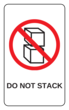 "OL1125 - 3.0625"" x 1.8375"" - Do Not Stack Label"
