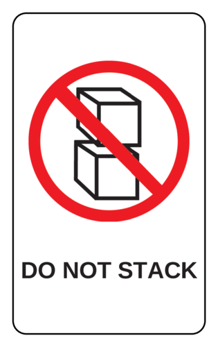 Do Not Stack Label pre-designed label template for OL1125