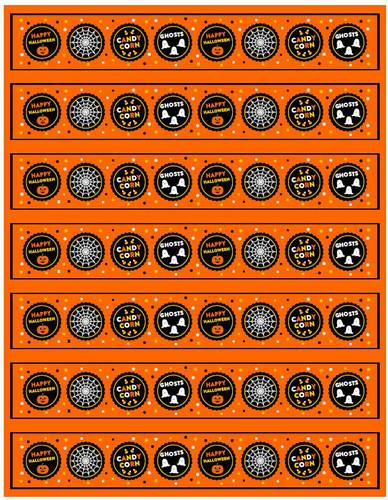"OL435 - 8.1875"" x 1.375"" - Happy Halloween Water Bottle Labels"