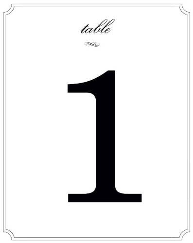 wedding table numbers label templates ol475. Black Bedroom Furniture Sets. Home Design Ideas