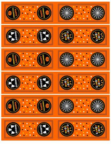 Halloween Labels For Tic Tac Mint Boxes pre-designed label template for OL1809
