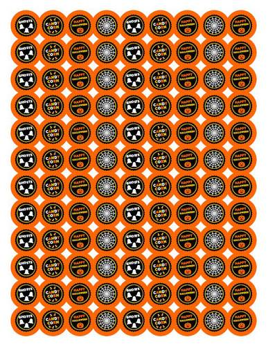 "OL5275 - 0.75"" Circle - Free Halloween Chocolate Kiss Label Design"