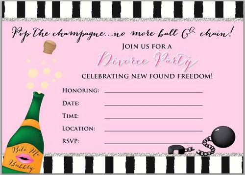 "OL267 - 8.5"" x 11"" - Divorce Party Invitation Design - Free"