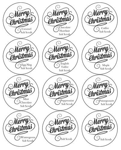 Homemade Salt Scrub Labels - Label Templates - OL350