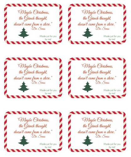 Handmade Gift Christmas Label Design - Label Templates - Christmas ...