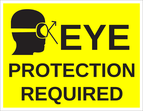 "OL175 - 8.5"" x 11"" - Eye Protection Required Label"