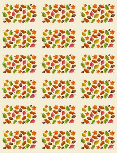 "OL800 - 2.5"" x 1.563"" - Autumn Leaf Hershey's Mini Candy Bar Labels"