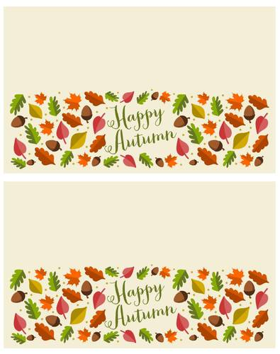 Autumn Leaf Treat Toppers pre-designed label template for OL1258