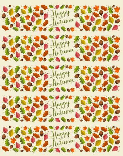 "OL1159 - 8"" x 2"" - Happy Autumn Water Bottle Labels"