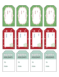 Complimentary Holiday Gift Tag Labels - To: & From: