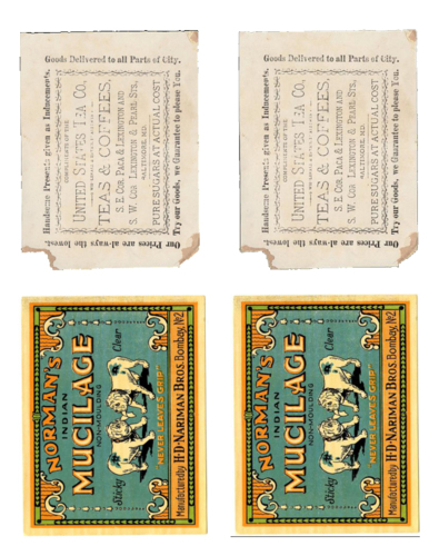 Vintage Look-A-Like Labels pre-designed label template for OL475