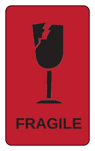 Fragile Label (Round Corner Rectangle)