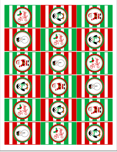 Christmas Hershey\'s Mini Candy Bar Favor Labels - Label Templates ...