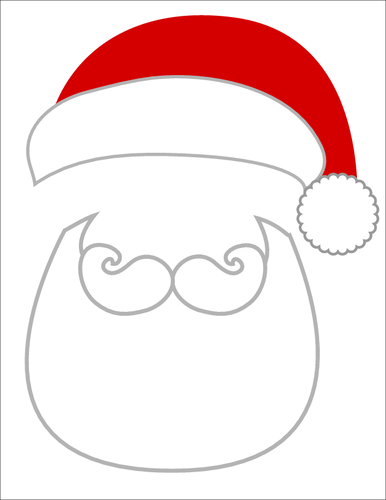 Christmas Photo Props Santa Beard and Hat - Label Templates - OL267 ...