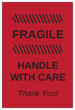 "OL145 - 6"" x 4"" - Fragile - Handle with Care Label"