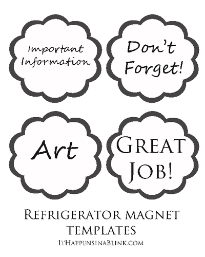"OL403 - 8.5"" x 11"" - Easy DIY Refrigerator Magnets"