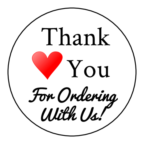 "OL2682 - 2"" Circle - Thank You For Ordering With Us Editable Label Design Free"