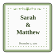 "OL3016 - 2"" x 2"" - Colonial - Pistachio Wedding 2"" x 2"" Label"
