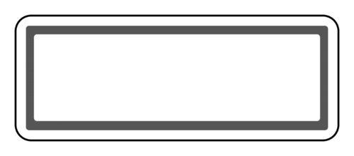 "OL875 - 2.625"" x 1"" - Grey Horizontal Address Label"
