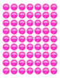 "OL1025 - 1"" Circle - Baby Shower Umbrella Favor & Decoration Label - Pink"