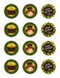St. Patricks Day Round Cupcake Topper Stickers