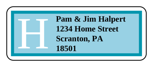 "OL875 - 2.625"" x 1"" - Hamilton - Azure Wedding Address Label"