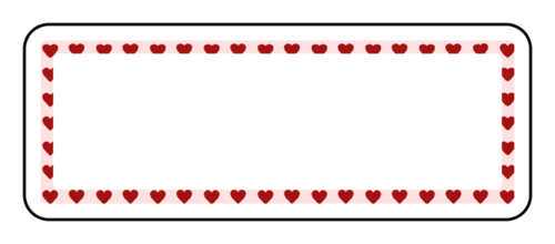 "OL875 - 2.625"" x 1"" - Heart Address Label"