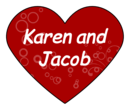 Heart Sticker Wedding Label