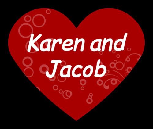 "OL196 - 2.2754"" x 1.8872"" - Heart Sticker Wedding Label"