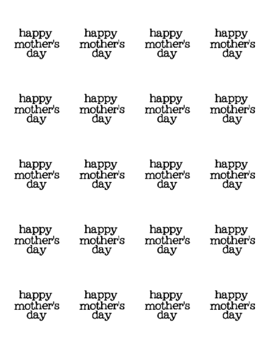 "OL5375 - 2"" Circle - Happy Mother's Day Label Printable"