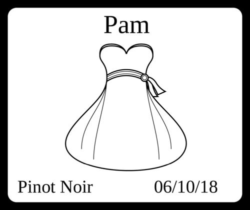 "OL150 - 4"" x 3.33"" - Wedding - Wine Bottle - Bride"