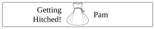 "OL435 - 8.1875"" x 1.375"" - Wedding - Water Bottle - Bride"