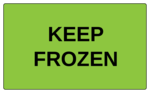 "OL6675 - 5"" x 3"" - Keep Frozen Label"