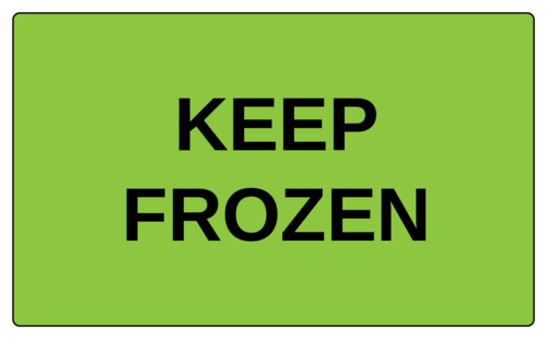 Keep frozen label template for shipping cold goods