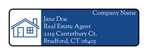 "OL25 - 1.75"" x 0.5"" - Real Estate Address Label"