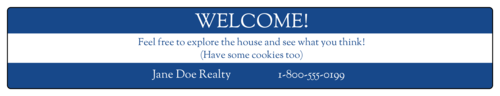 """OL5450 - 7.5"""" x 1.5"""" - Real Estate Open House Water Bottle"""